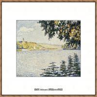保罗西涅克Paul Signac法国新印象派点彩派大师西涅克绘画作品集View_of_the_Seine_at_Herb