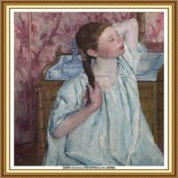 19世纪著名美国印象派女画家玛丽卡萨特Mary Cassatt绘画作品集油画作品高清图片 (93)