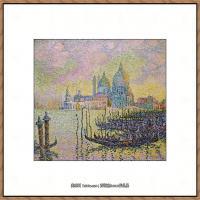 保罗西涅克Paul Signac法国新印象派点彩派大师西涅克绘画作品集,_Grand_Canal_(Venise)