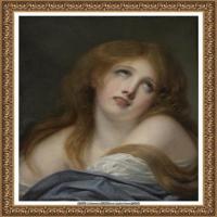法国洛可可风格画家让巴蒂斯特格勒兹Jean Baptiste Greuze古典人物油画作品图片-THE BUST OF