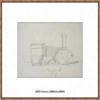 乔治莫兰迪Giorgio Morandi意大利著名的版画家油画家绘画作品集莫兰迪油画作品高清图片 (37)