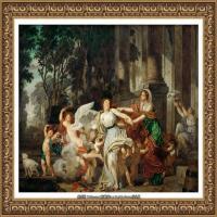 法国洛可可风格画家让巴蒂斯特格勒兹Jean Baptiste Greuze古典人物油画作品图片-Innocence, c