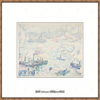 保罗西涅克Paul Signac法国新印象派点彩派大师西涅克绘画作品集Rotterdam (French, Paris