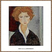 阿梅代奥莫迪利亚尼Amedeo Modigliani意大利著名画家绘画作品集油画作品高清图片Portrait de fe