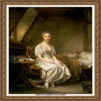 法国洛可可风格画家让巴蒂斯特格勒兹Jean Baptiste Greuze古典人物油画作品图片-The complain