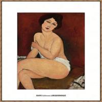 阿梅代奥莫迪利亚尼Amedeo Modigliani意大利著名画家绘画作品集油画作品高清图片NU ASSIS SUR U