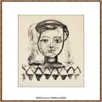 西班牙画家巴勃罗毕加索Pablo Picasso现代派素描毕加索手稿高清图片毕加索素描作品 (40)