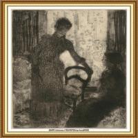 19世纪著名美国印象派女画家玛丽卡萨特Mary Cassatt绘画作品集油画作品高清图片 (86)