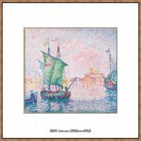 保罗西涅克Paul Signac法国新印象派点彩派大师西涅克绘画作品集Venice,_The_Pink_Cloud,_1