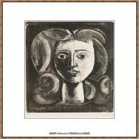 西班牙画家巴勃罗毕加索Pablo Picasso现代派素描毕加索手稿高清图片毕加索素描作品 (140)