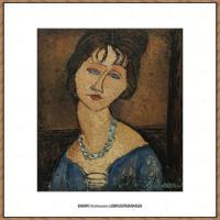 阿梅代奥莫迪利亚尼Amedeo Modigliani意大利著名画家绘画作品集油画作品高清图片JEANNE HeBUTER