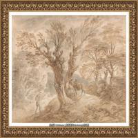 英国画家托马斯庚斯博罗Thomas Gainsborough肖像画风景画素描速写作品高清图片 (30)