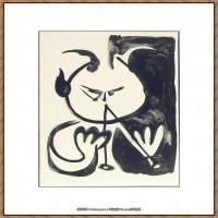 西班牙画家巴勃罗毕加索Pablo Picasso现代派素描毕加索手稿高清图片毕加索素描作品 (8)
