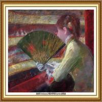 19世纪著名美国印象派女画家玛丽卡萨特Mary Cassatt绘画作品集油画作品高清图片 (53)