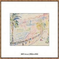 保罗西涅克Paul Signac法国新印象派点彩派大师西涅克绘画作品集Nice, La Promenade des An