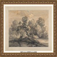 英国画家托马斯庚斯博罗Thomas Gainsborough肖像画风景画素描速写作品高清图片 (1)