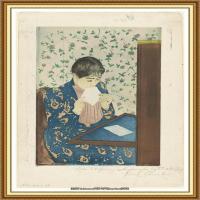 19世纪著名美国印象派女画家玛丽卡萨特Mary Cassatt绘画作品集油画作品高清图片 (62)