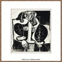 西班牙画家巴勃罗毕加索Pablo Picasso现代派素描毕加索手稿高清图片毕加索素描作品 (14)