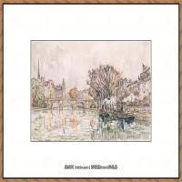保罗西涅克Paul Signac法国新印象派点彩派大师西涅克绘画作品集The Pont Neuf, Paris (Fre
