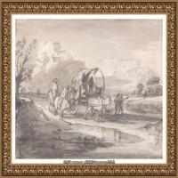 英国画家托马斯庚斯博罗Thomas Gainsborough肖像画风景画素描速写作品高清图片 (28)