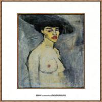阿梅代奥莫迪利亚尼Amedeo Modigliani意大利著名画家绘画作品集油画作品高清图片Nude stud