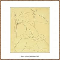 阿梅代奥莫迪利亚尼Amedeo Modigliani意大利著名画家绘画作品集手稿素描作品高清图片Woman, Head