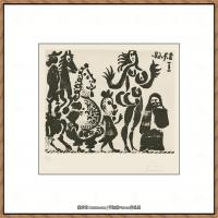 西班牙画家巴勃罗毕加索Pablo Picasso现代派素描毕加索手稿高清图片毕加索素描作品 (90)