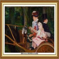 19世纪著名美国印象派女画家玛丽卡萨特Mary Cassatt绘画作品集油画作品高清图片 (97)