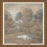 英国画家托马斯庚斯博罗Thomas Gainsborough肖像画风景画素描速写作品高清图片 (3)