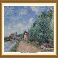 阿尔弗莱德西斯莱Alfred Sisley法国印象派画家世界著名画家风景油画高清图片 (45)