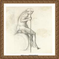 英国新拉斐尔前派画家插画家爱德华伯恩琼斯EdwardBurneJones素描速写手稿作品高清图片插画作品集 (16)