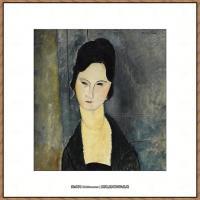 阿梅代奥莫迪利亚尼Amedeo Modigliani意大利著名画家绘画作品集油画作品高清图片Lady in black