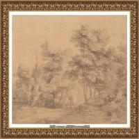 英国画家托马斯庚斯博罗Thomas Gainsborough肖像画风景画素描速写作品高清图片 (5)