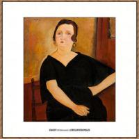 阿梅代奥莫迪利亚尼Amedeo Modigliani意大利著名画家绘画作品集油画作品高清图片Madame Amédée