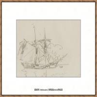 保罗西涅克Paul Signac法国新印象派点彩派大师西涅克绘画作品集Goelette a quai