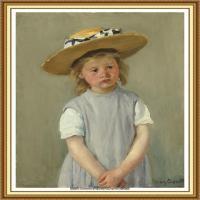 19世纪著名美国印象派女画家玛丽卡萨特Mary Cassatt绘画作品集油画作品高清图片 (69)