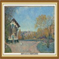 阿尔弗莱德西斯莱Alfred Sisley法国印象派画家世界著名画家风景油画高清图片 (16)