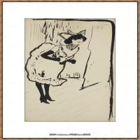 西班牙画家巴勃罗毕加索Pablo Picasso现代派素描毕加索手稿高清图片毕加索素描作品 (135)