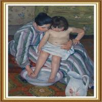 19世纪著名美国印象派女画家玛丽卡萨特Mary Cassatt绘画作品集油画作品高清图片 (92)