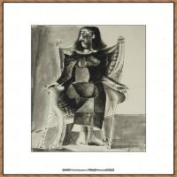 西班牙画家巴勃罗毕加索Pablo Picasso现代派素描毕加索手稿高清图片毕加索素描作品 (97)