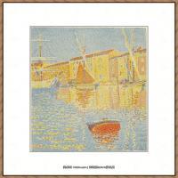 保罗西涅克Paul Signac法国新印象派点彩派大师西涅克绘画作品集 The Buoy (La bouée) 1894