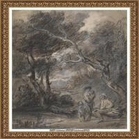 英国画家托马斯庚斯博罗Thomas Gainsborough肖像画风景画素描速写作品高清图片 (40)