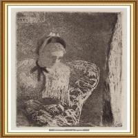 19世纪著名美国印象派女画家玛丽卡萨特Mary Cassatt绘画作品集油画作品高清图片 (58)