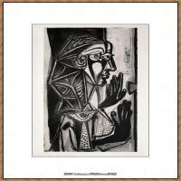西班牙画家巴勃罗毕加索Pablo Picasso现代派素描毕加索手稿高清图片毕加索素描作品 (118)