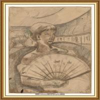 19世纪著名美国印象派女画家玛丽卡萨特Mary Cassatt绘画作品集油画作品高清图片 (74)