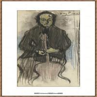 西班牙画家巴勃罗毕加索Pablo Picasso现代派素描毕加索手稿高清图片毕加索素描作品 (103)