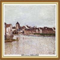阿尔弗莱德西斯莱Alfred Sisley法国印象派画家世界著名画家风景油画高清图片 (35)