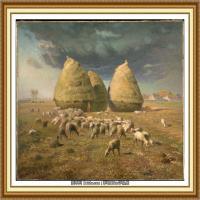 19世纪法国巴比松派画家让弗朗索瓦米勒Jean Francois Millet绘画作品集现实主义画家米勒 (20)