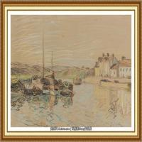阿尔弗莱德西斯莱Alfred Sisley法国印象派画家世界著名画家风景油画高清图片 (39)
