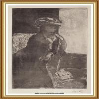 19世纪著名美国印象派女画家玛丽卡萨特Mary Cassatt绘画作品集油画作品高清图片 (52)
